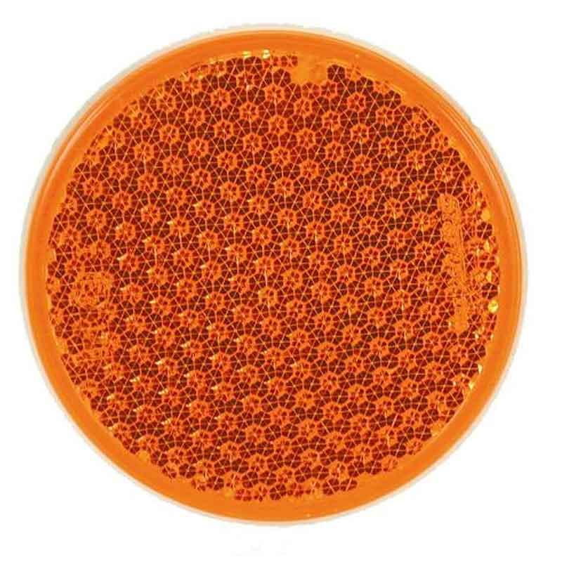 Rund refleks ø 54 mm gul selvklæbende Bil & Trailer // Reflekser // Runde reflekser