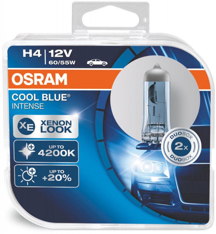 Osram H4 Cool Blue Intense pærer sæt (2 stk.) pakke Osram Cool Blue Intense