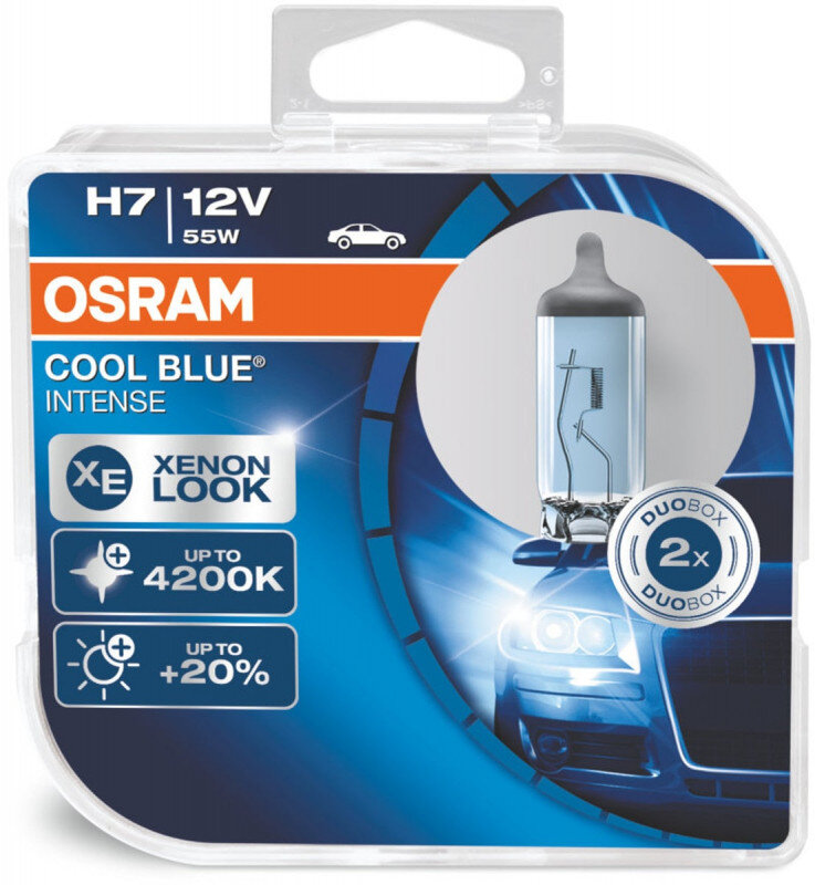 Osram H7 Cool Blue Intense pærer sæt (2 stk) pakke Osram Cool Blue Intense