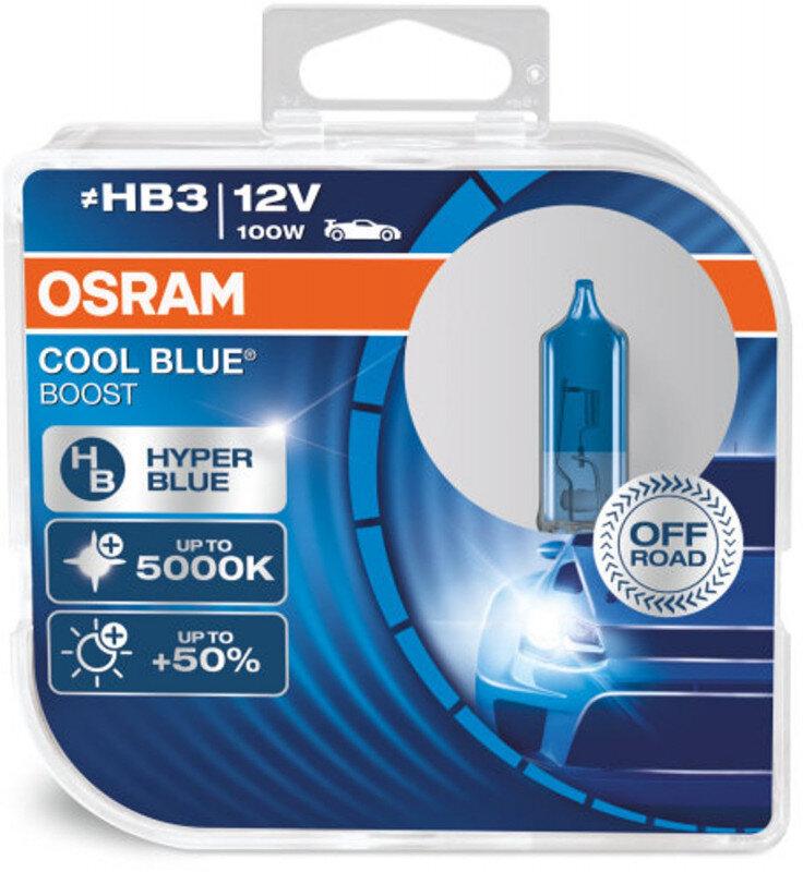 Osram HB3 Cool Blue Boost pærer med +50% mere lys