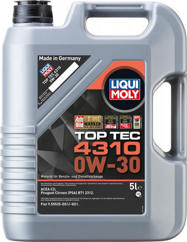 Top tec 4310 Liqui moly 0W30 Motorolie i 5l Top tec motorolie fra Liqui Moly