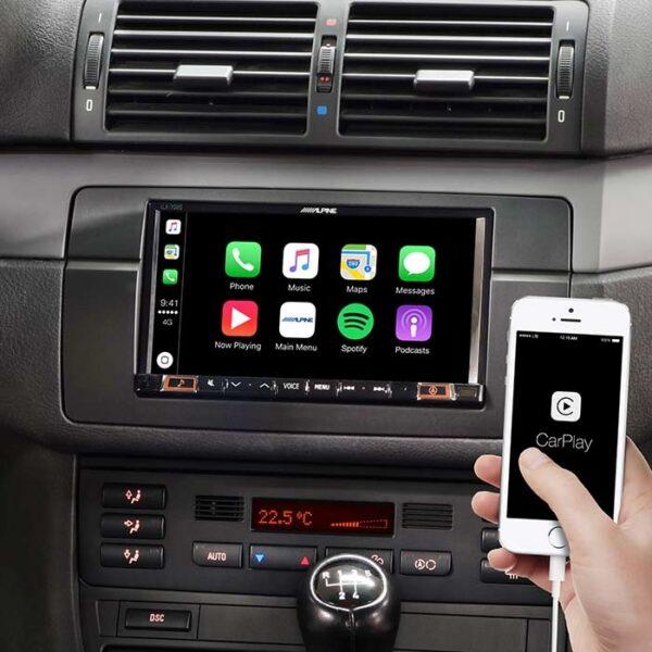 Alpine Style ILX-702E46 multimedia navigation Appel Carplay 2DIN til BMW 3 E46 Bilstereo > Navigation > BMW