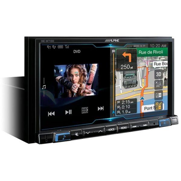 Alpine INEW710D 2DIN Multimedie Station med navigation Bilstereo > Multimedie