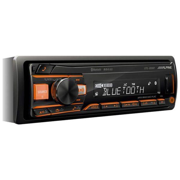 Alpine UTE200BT Turner/Ipod Bluetooth 2 line out Bilstereo > CD / Radio