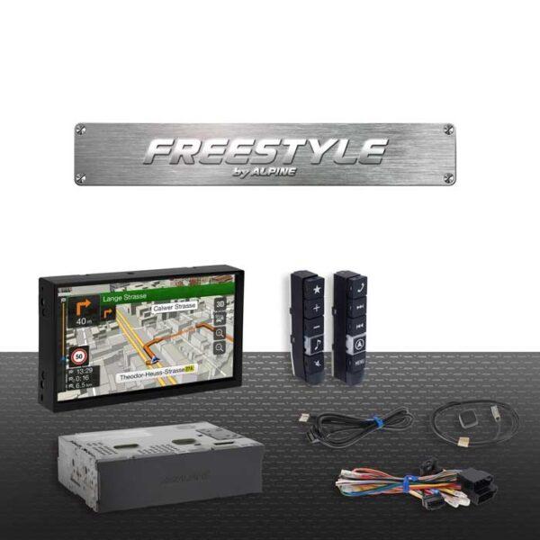 "Alpine X701DF Freestyle 7"" navigation Bilstereo > Navigation > Universal"