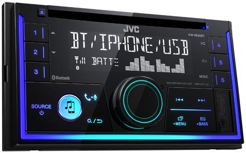 JVC autoradio KWR930BT 2 DIN CD7RDS turner m. Bluetooth Bilstereo