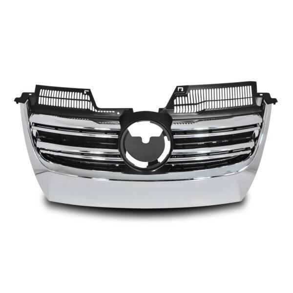 JOM Frontgrill R-look med dobbelt ribbe i sort/krom til VW Golf 5 Styling