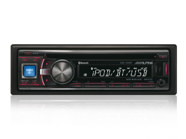 Alpine CDE-134BT CD/Tuner med USB & Ipod Bluethooth Outlet
