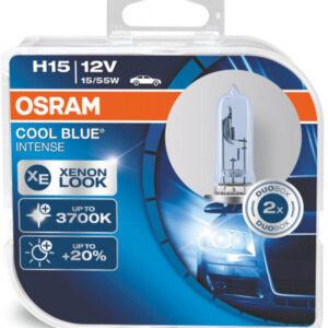 Osram H15 Cool Blue Intense pærer sæt (2 stk. ) Osram Cool Blue Intense