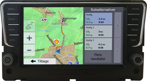 Volkswagen Golf 7 Navigation (Composition Media) Antracit grå Bilstereo > Navigation > Skoda