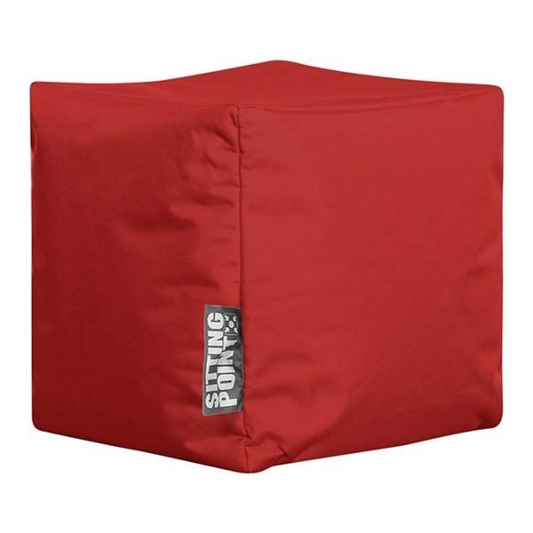 Puf Sitting Point Cube Scuba Rød